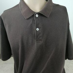 ST John Bay Heritage Pique Brown XL Browm Shirt